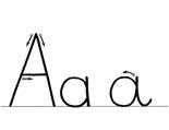 Alphabet cursif