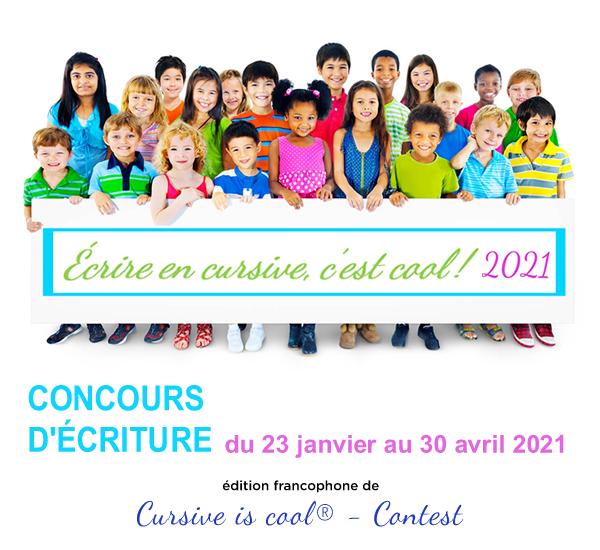 Concours Écrire en cursive, c'est cool ! 2021